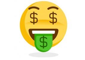 Sticker emoji dollars