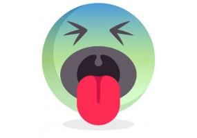 Sticker emoji degout