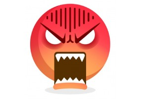 Sticker emoji colere