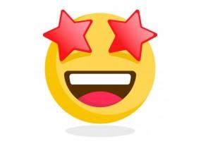 Sticker emoji etoile dans les yeux