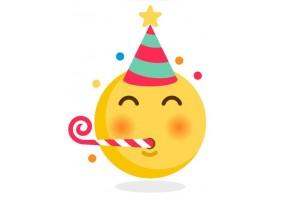 Sticker emoji festif