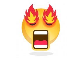 Sticker emoji yeux en feu