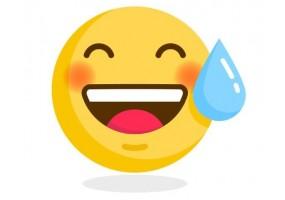Sticker emoji goutte d'eau