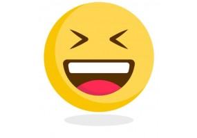 Sticker emoji fou rire