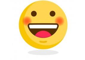 Sticker emoji joue rose
