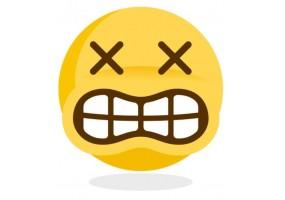 Sticker emoji yeux en croix