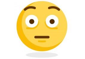 Sticker emoji visage crispe