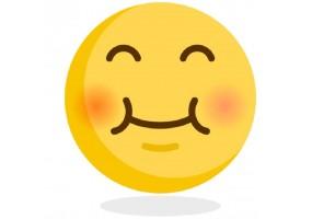 Sticker emoji joue rouge