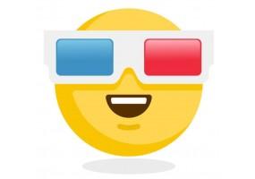 Sticker emoji lunette de cinema