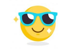 Sticker emoji lunette de soleil