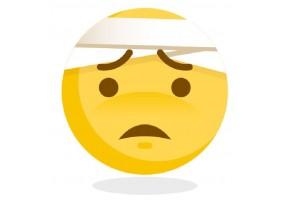 Sticker emoji malade