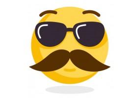 Sticker emoji moustache