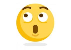 Sticker emoji surpris