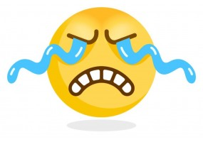 Sticker emoji triste