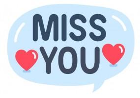 Sticker emoji tu me manques