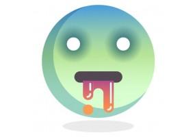 Sticker emoji vert