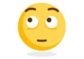 Sticker emoji yeux en l'air