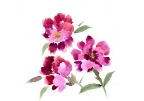 Sticker chinois fleur