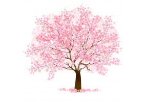 Sticker chinois arbre