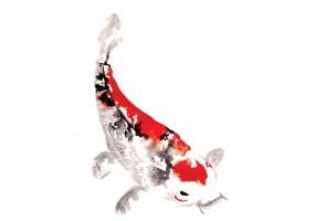 Sticker chinois oiseau