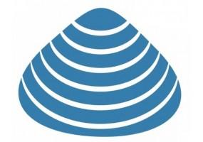 Sticker coquillage bleu et blanc