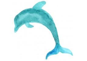 Sticker coquillage dauphin
